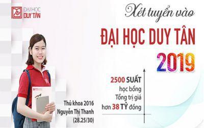Đại học Duy Tân tuyển sinh năm 2019