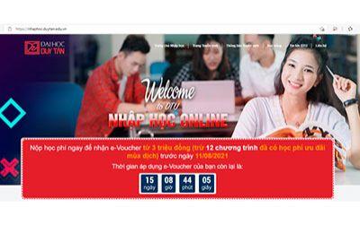Nhập học Online vào ĐH Duy Tân để nhận ngay 2,6 triệu đồng