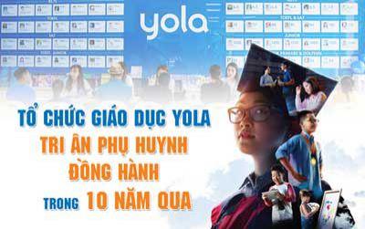 Tổ chức giáo dục YOLA tri ân phụ huynh đồng hành trong 10 năm qua