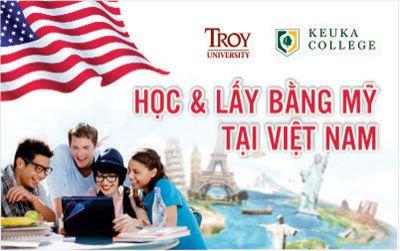 Chương trình học Lấy bằng ĐH Troy (Mỹ) và ĐH Keuka (Mỹ) tại Việt Nam
