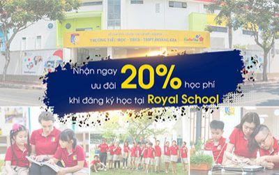 Nhận ngay ưu đãi 20% học phí khi đăng ký học tại Royal School
